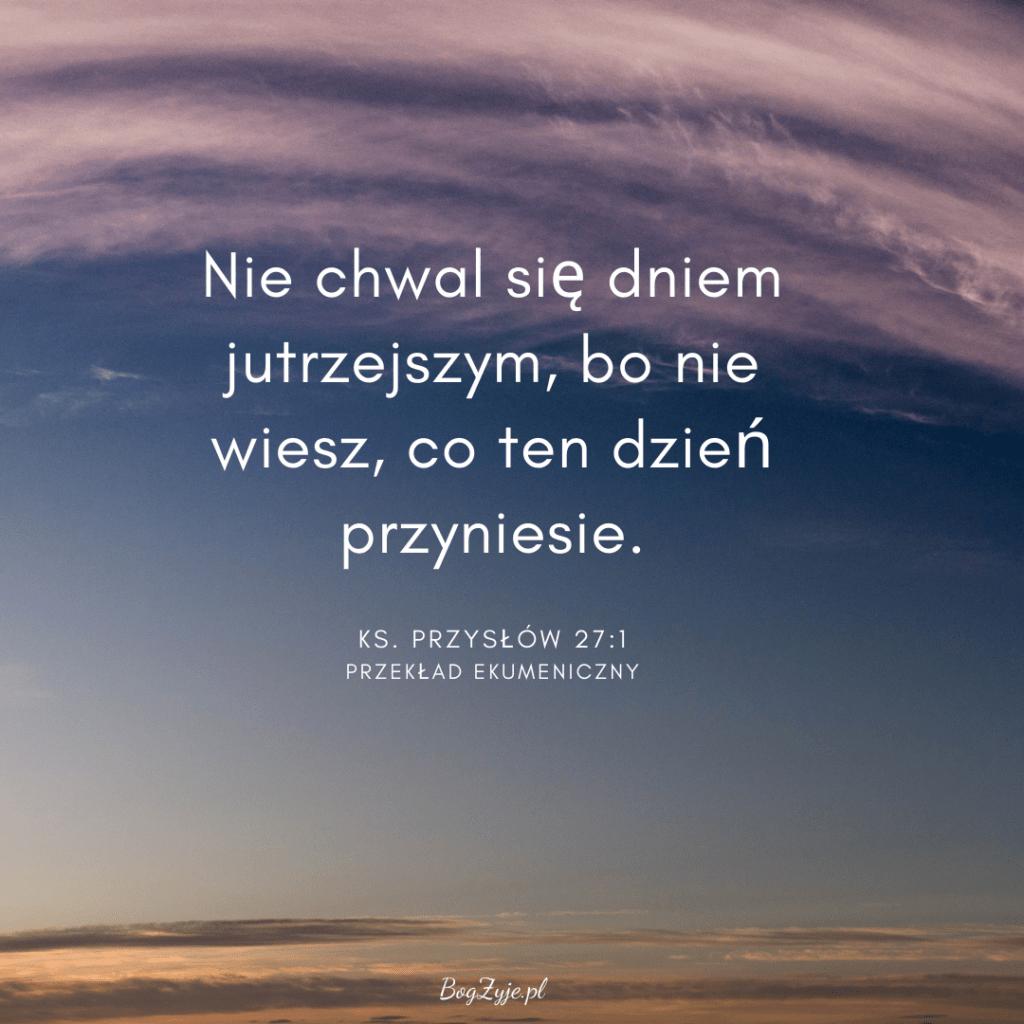 Księga Przysłów 27:1