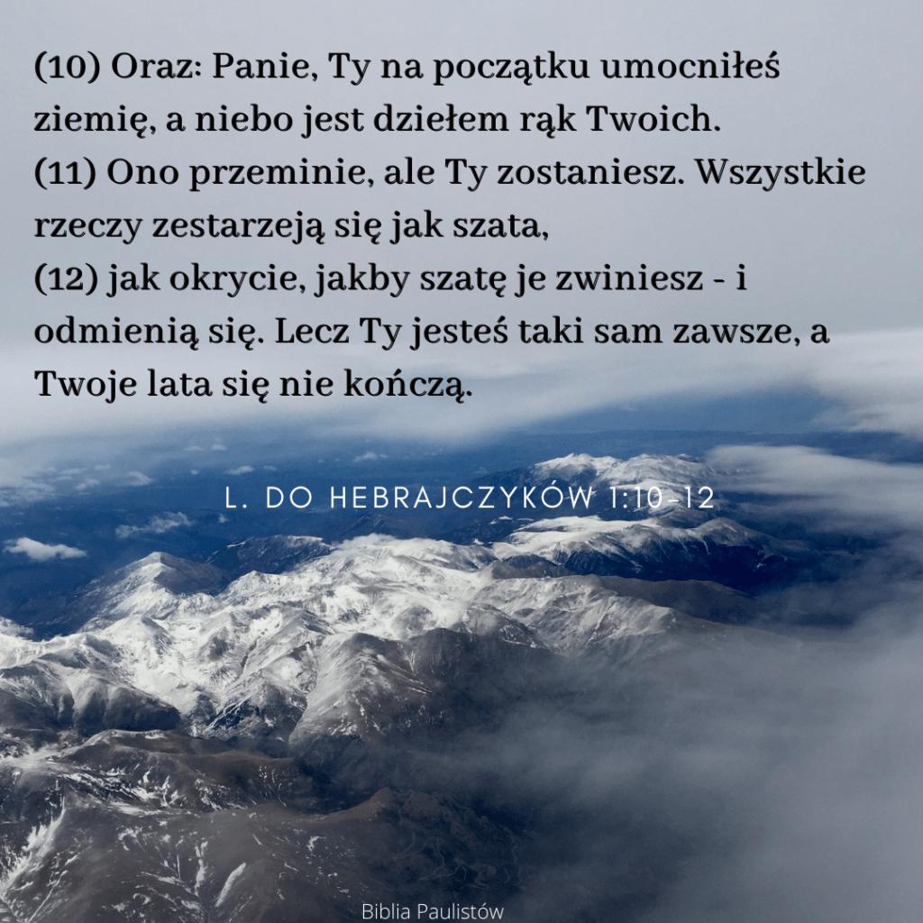 List do Hebrajczyków 1:10-12 / tekst: Problem z Hebrajczyków 1:10