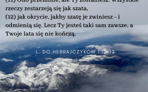 List do Hebrajczyków 1:10-12