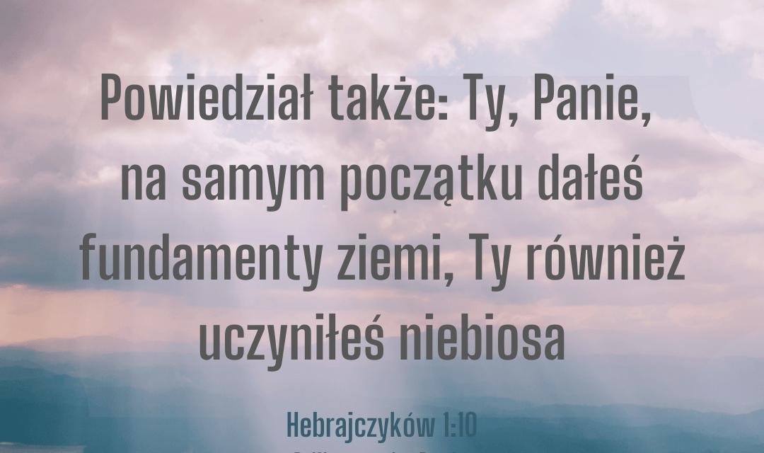 List do Hebrajczyków 1:10