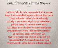Powtórzonego Prawa 8:11-14