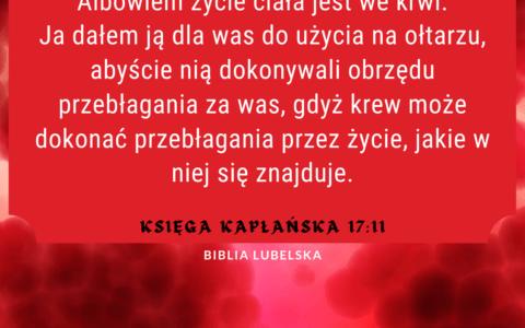 Księga Kapłańska 17:11