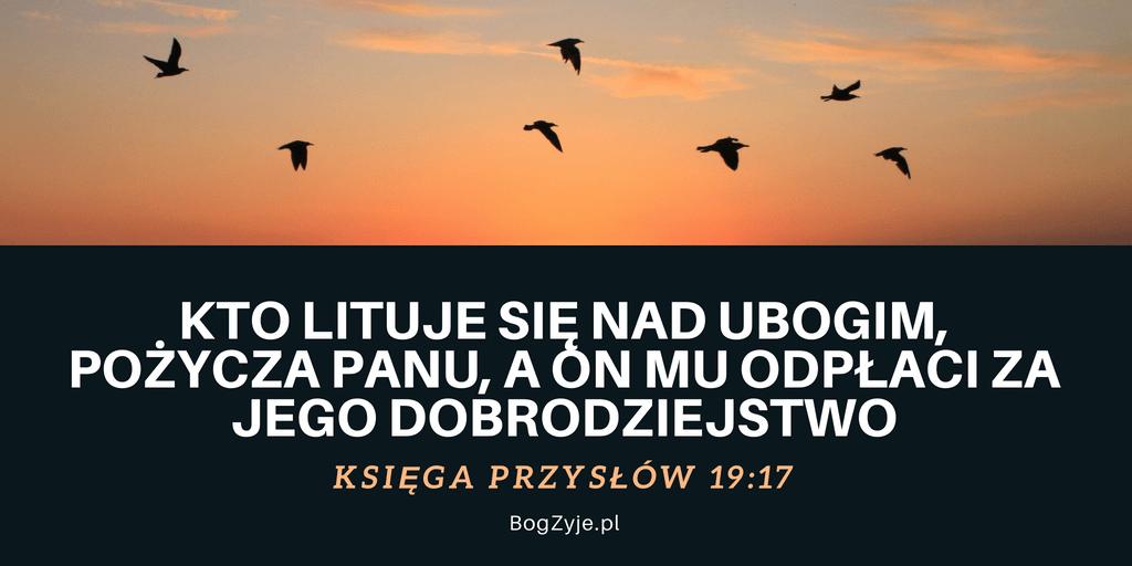 Księga Przysłów 19:17