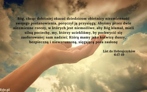 List do Hebrajczyków 6:17-19
