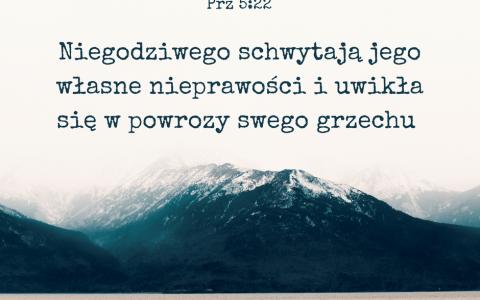 Przysłów 5:22