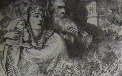 8. plaga egipska - szarańcza. Ilustracja: 1890 Holman Bible (wolna domena)