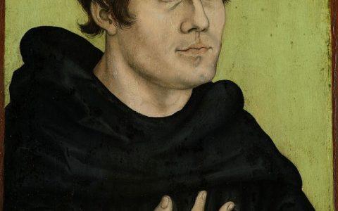 pośmiertny portret Marcina Lutra jako augustiańskiego mnicha / obraz z pracowni: Lucas Cranach starszy / wolna domena
