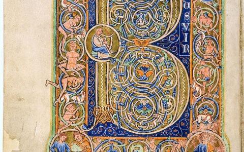 Beatus vir - z Psalmu 1 / Psałterz Ludwika IX Świętego / wolna domena