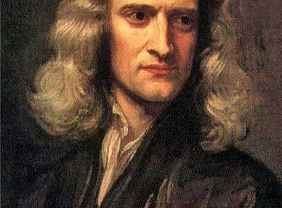 portret Isaaca Newtona (1642-1727).Kopia obrazu Sir Godfrey'a Knellera (1689)