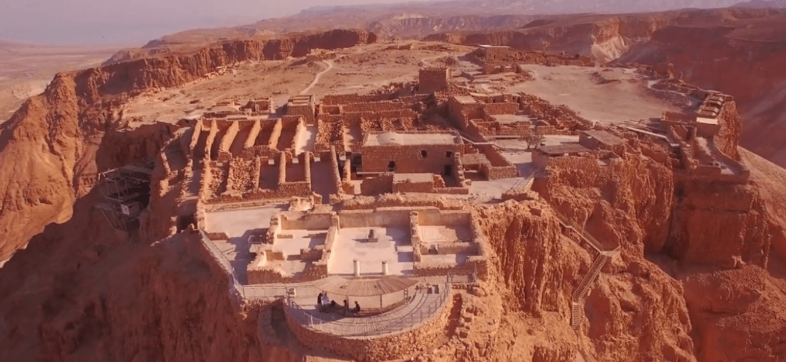 Masada - starożytna forteca - screen YouTube