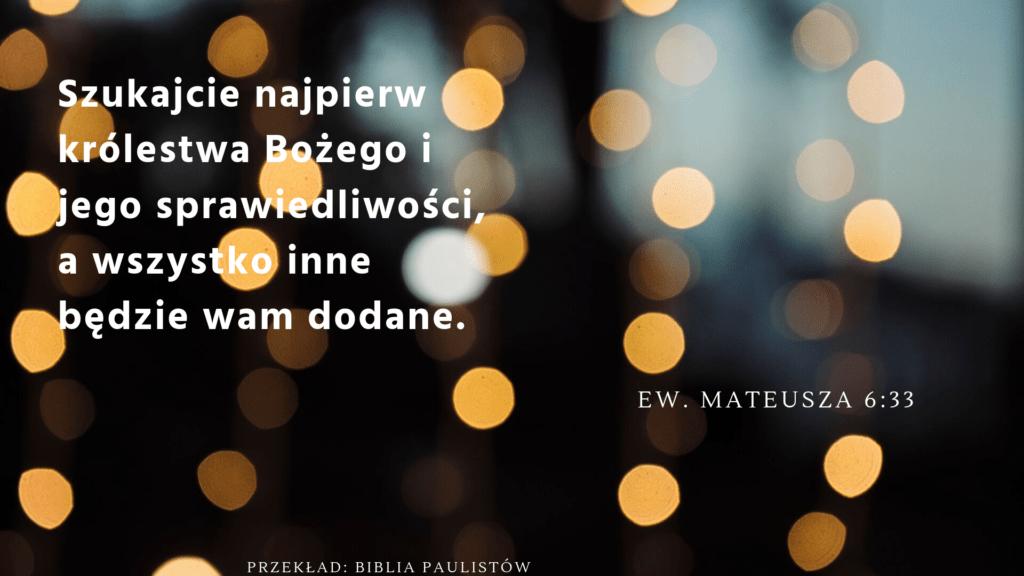 Mateusza 6:33