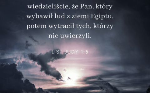 List Judy 1:5: Jezus czy Bóg wyprowadził Izrael z Egiptu?