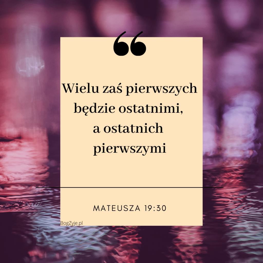 Ewangelia Mateusza 19:30