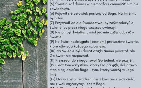 Słowo w prologu Jana / Ew. Jana 1:1-16