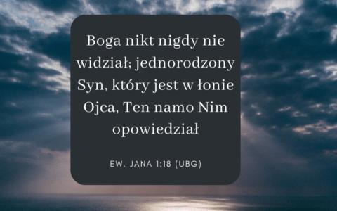 Ewangelia Jana 1:18 [komentarze]