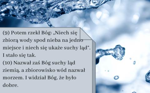 """Księga Rodzaju 1:9-10 [chiazm]. """"Niech się zbiorą wody..."""""""