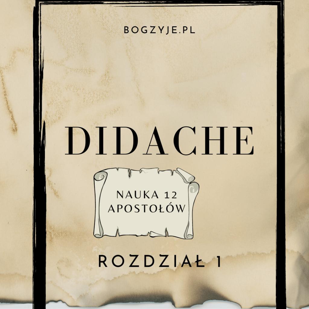 Didache (Nauka Dwunastu Apostołów). Rozdział 1