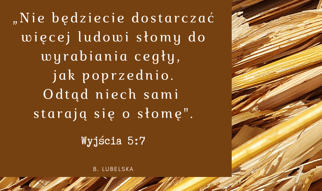 Dlaczego niewolnicy w Egipcie potrzebowali słomy do cegieł. Księga Wyjścia 5:7 [komentarze]