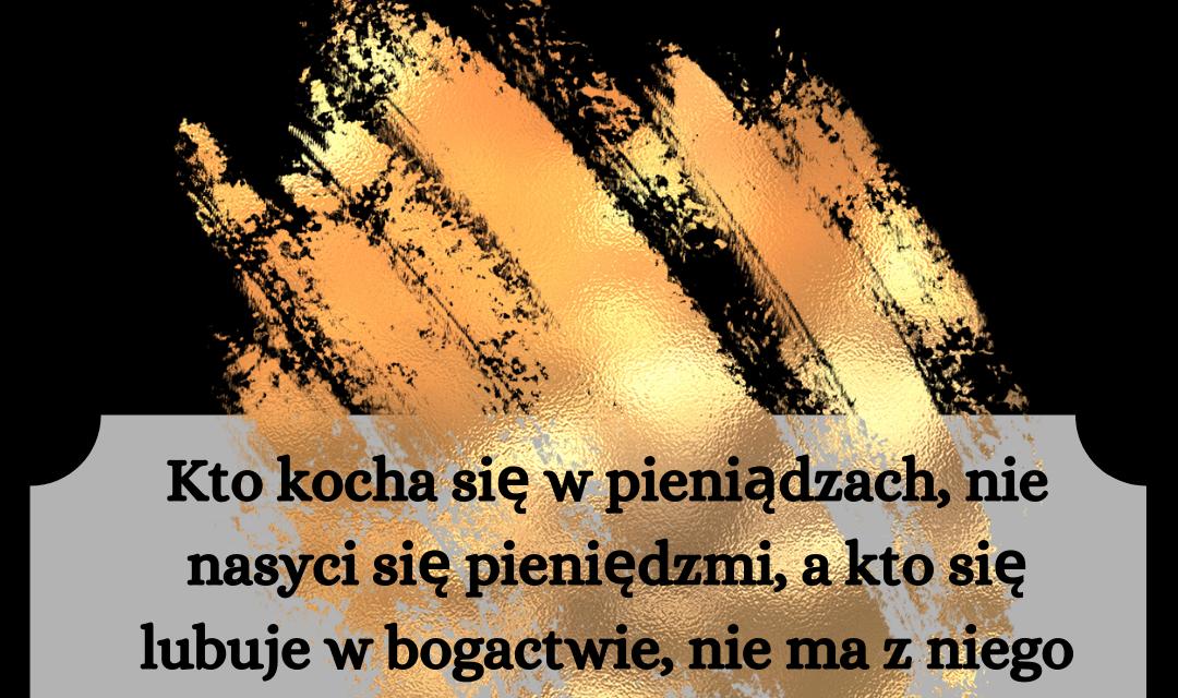 Księga Kaznodziei 5:9