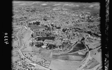 Jerozolima z lotu ptaka (wolna domena) / artykuł: Miejsce przyszłej świątyni