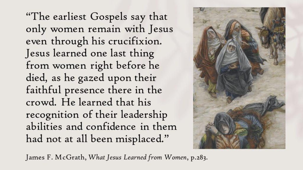 """Jezus a kobiety. """"Czego Jezus nauczył się od kobiet"""" / źródło: Twitter.com/ReligionProf"""