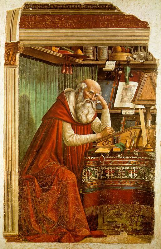 Hieronim i celibat / Św. Hieronim podczas badań (1480), Domenico Ghirlandaio