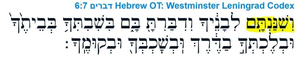 Księga Powtórzonego Prawa 6:7 / Kodeks Leningradzki