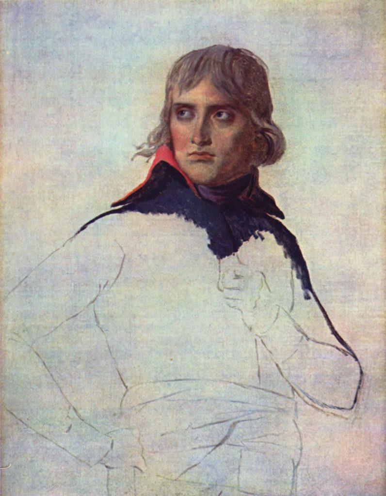 nieukończony portret Napoleona Bonaparte / Jacques-Louis David / wolna domena / artykuł: Napoleon o chrześcijaństwie, Biblii i religii