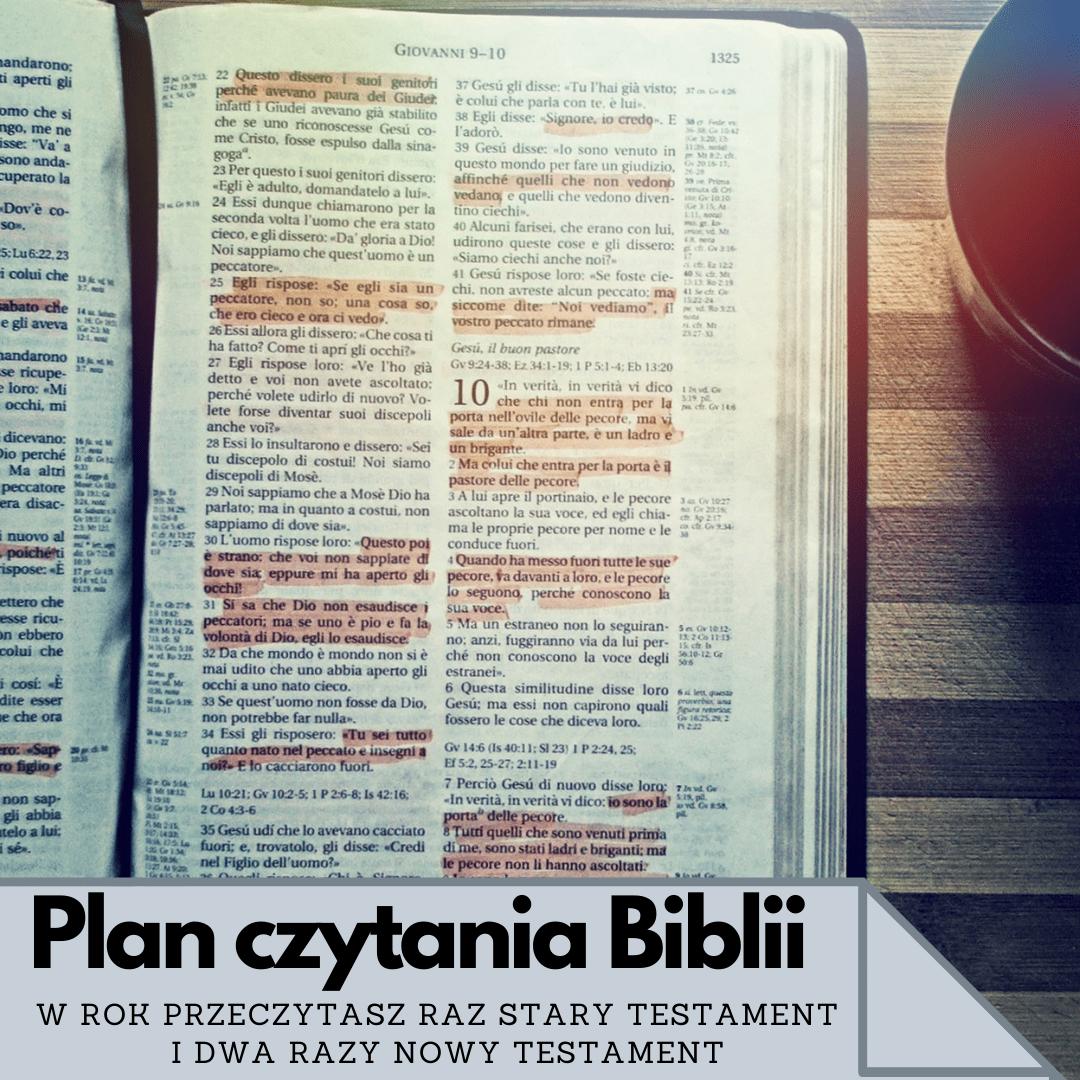 Plan czytania Biblii. Pismo Święte w rok