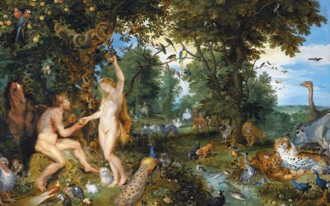 """Czy Adam i Ewa zjedli w raju jabłko? /Obraz """"upadek człowieka"""" - Jan Brueghel de Oude oraz Peter Paul Rubens"""