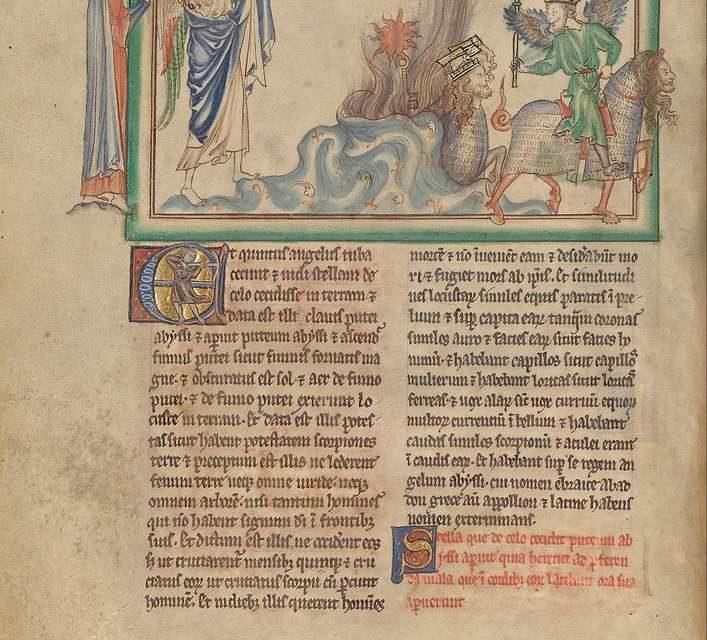 Piąta trąba: anioł zniszczenia i szarańcza / Abaddon